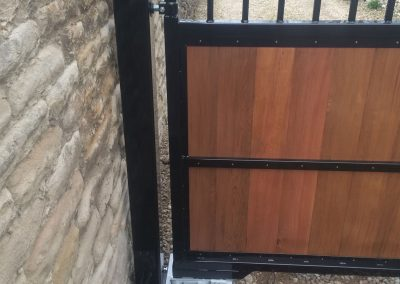 Close up of electric gate installation